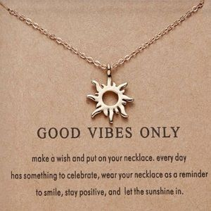 """⚡️2 for $15 """"Good Vibes Only"""" Gold Color Necklace"""